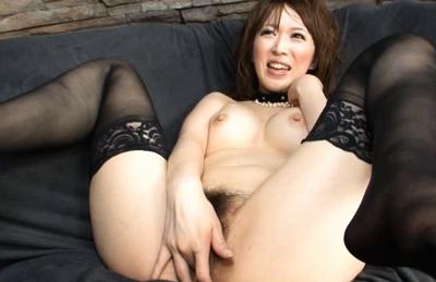 Sayaka Tsuzi Asian doll is sweet in her lingerie