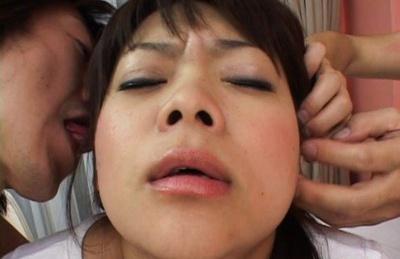 Nao Japanese schoolgirl gets creampie