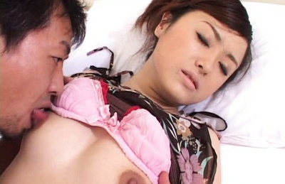 Asian babe Emiri Suzuki fucks, sucks cock and gets a creampie.