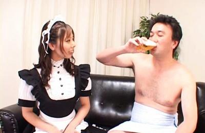Ai Uemura cocking sucking pro receives wild creampie
