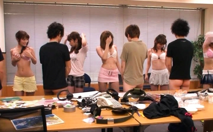 Moe Yazawa Asian model gets a gangbang party and ends with a drippy creampie