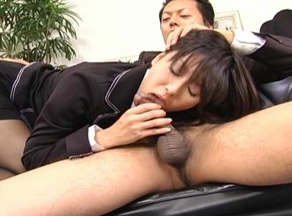Satomi Maeno Asian secretary has sex in the office