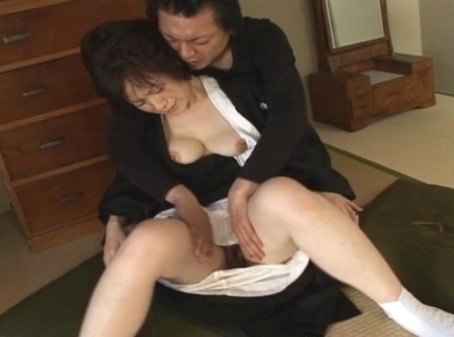 Hot Asian maid gets a cum shot at a fucking