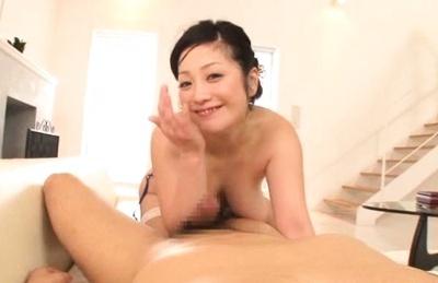 Lustful Minako Komukai sucks and gets bonked good